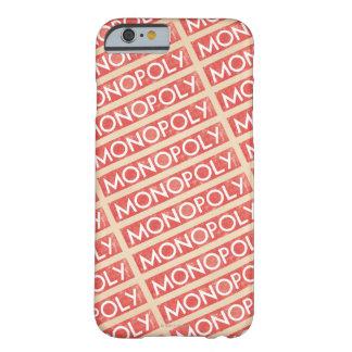 Logotipo del monopolio del vintage funda de iPhone 6 barely there