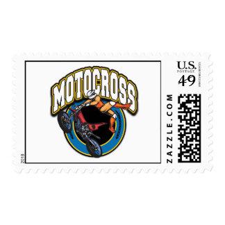 Logotipo del motocrós estampillas