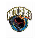 Logotipo del motocrós tarjeta postal