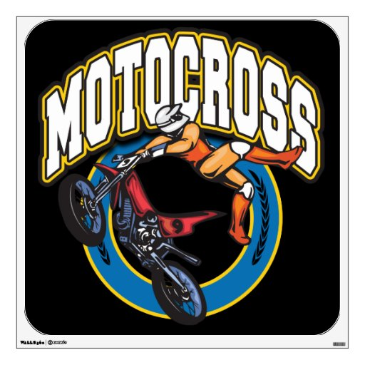 Logotipo del motocrós vinilo decorativo