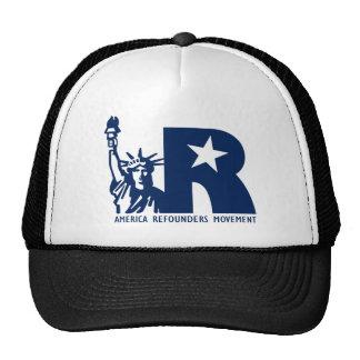 Logotipo del movimiento de América Refounders Gorros Bordados