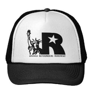 Logotipo del movimiento de América Refounders Gorras