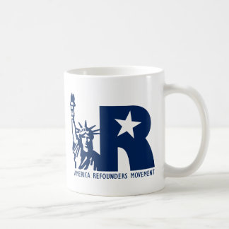Logotipo del movimiento de América Refounders Tazas