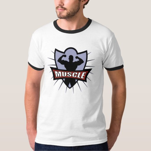 Logotipo del músculo del Bodybuilder Camisas