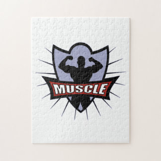 Logotipo del músculo del Bodybuilder Rompecabezas Con Fotos