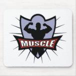 Logotipo del músculo del Bodybuilder Alfombrilla De Raton