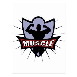 Logotipo del músculo del Bodybuilder Tarjetas Postales