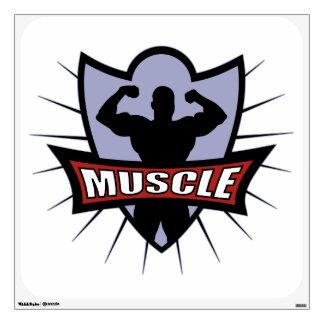 Logotipo del músculo del Bodybuilder Vinilo Adhesivo