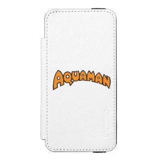Logotipo del naranja de Aquaman Funda Billetera Para iPhone 5 Watson