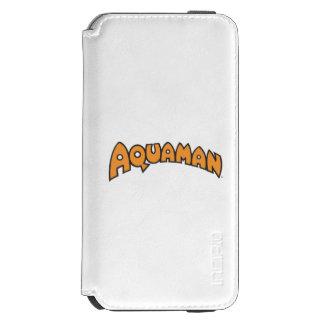 Logotipo del naranja de Aquaman Funda Billetera Para iPhone 6 Watson