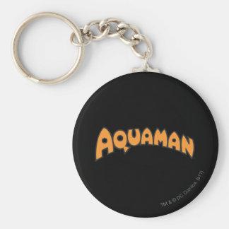 Logotipo del naranja de Aquaman Llavero Redondo Tipo Pin