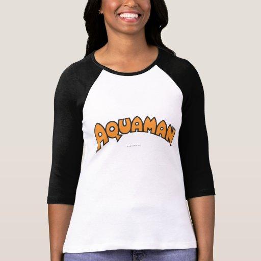 Logotipo del naranja de Aquaman Poleras
