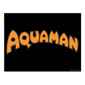 Logotipo del naranja de Aquaman Tarjetas Postales