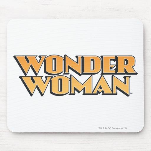 Logotipo del naranja de la Mujer Maravilla Alfombrillas De Ratones