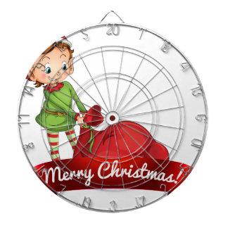 Logotipo del navidad con el duende