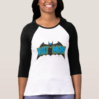 Logotipo del negro azul del vintage de Batman el | Playeras