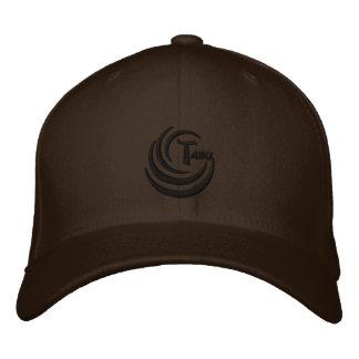 Logotipo del negro del casquillo de la mezcla de l gorra de beisbol bordada
