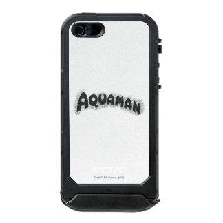 Logotipo del negro del Grunge de Aquaman Funda Para iPhone 5 Incipio ATLAS ID