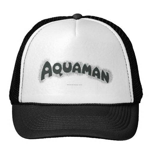 Logotipo del negro del Grunge de Aquaman Gorros