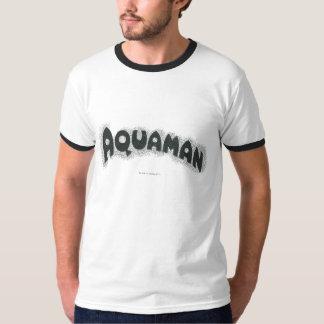 Logotipo del negro del Grunge de Aquaman Playera