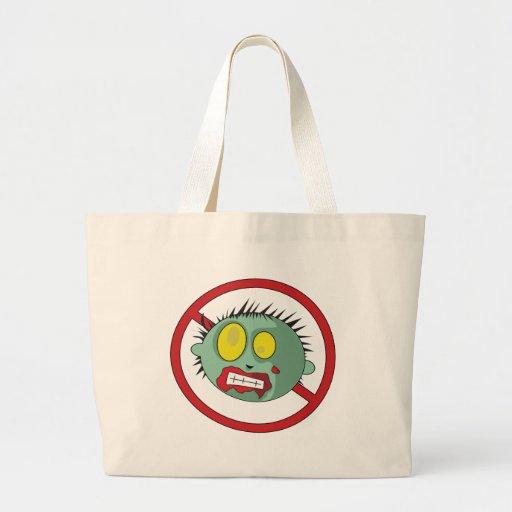 ¡Logotipo del No-Zombi - líbrese de los zombis! Bolsas De Mano