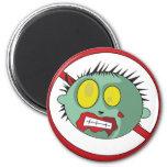 ¡Logotipo del No-Zombi - líbrese de los zombis! Iman