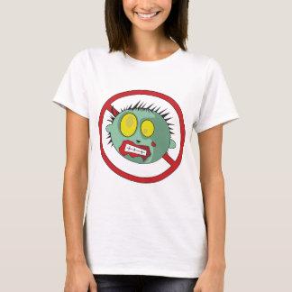 ¡Logotipo del No-Zombi - líbrese de los zombis! Playera