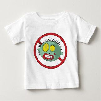 ¡Logotipo del No-Zombi - líbrese de los zombis! Playera De Bebé