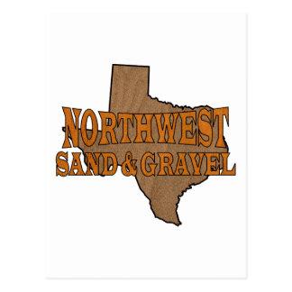 Logotipo del noroeste de la arena y de la grava postal