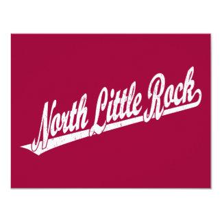 """Logotipo del norte de la escritura de Little Rock Invitación 4.25"""" X 5.5"""""""