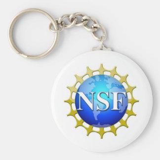 Logotipo del NSF por la petición Llavero Redondo Tipo Pin