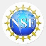Logotipo del NSF por la petición Etiquetas Redondas