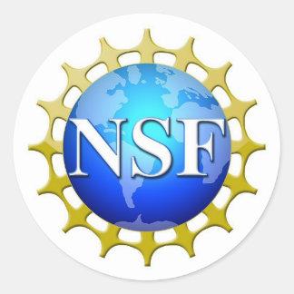 Logotipo del NSF por la petición Pegatina Redonda