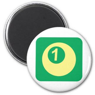 Logotipo del número uno de la bola de billar iman para frigorífico