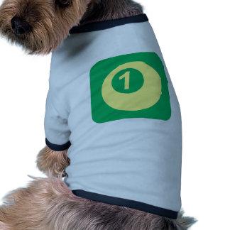 Logotipo del número uno de la bola de billar camisetas mascota
