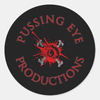 Logotipo del ojo de Pussing [HOJA del PEGATINA] Pegatina Redonda