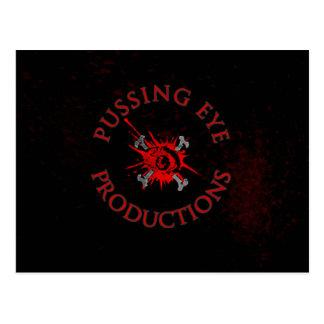 Logotipo del ojo de Pussing [POSTAL] Tarjetas Postales