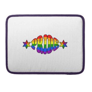 Logotipo del orgullo gay fundas macbook pro