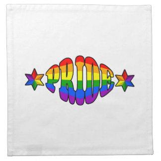 Logotipo del orgullo gay servilletas
