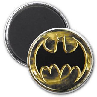 Logotipo del oro de Batman Imán Redondo 5 Cm