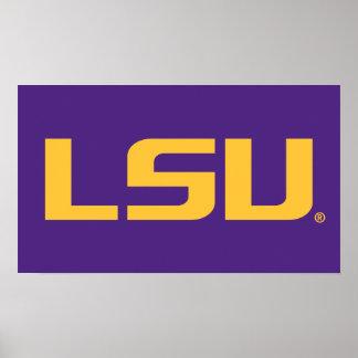 Logotipo del oro de LSU Posters