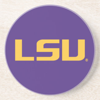 Logotipo del oro de LSU Posavasos Diseño