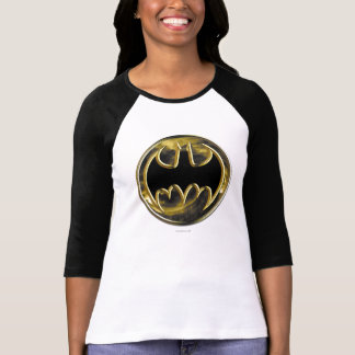 Logotipo del oro del símbolo el | de Batman Playera