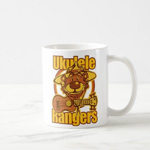 Logotipo del oso de los guardabosques del Ukulele Tazas