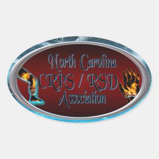 Logotipo del óvalo de la asociación de Carolina Pegatina Ovalada