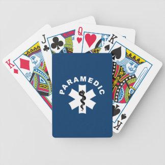 Logotipo del paramédico el ccsme baraja de cartas