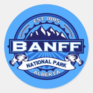 Logotipo del parque nacional de Banff Pegatina Redonda