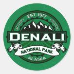 Logotipo del parque nacional de Denali Etiqueta Redonda