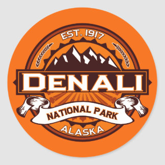 Logotipo del parque nacional de Denali Pegatinas Redondas