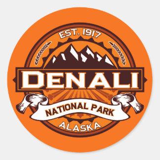 Logotipo del parque nacional de Denali Pegatina Redonda